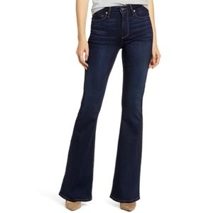 Paige Canyon Flare Dark Wash Soft Jeans
